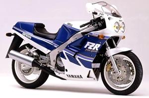 1988 fzr 1000 blue white upper fairing decal kit for Yamaha fzr fairings